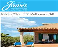 Mothercare voucher when booking a James Villa holiday