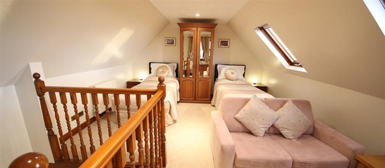 Bedroom in Purbeck View, Chale Bay Farm