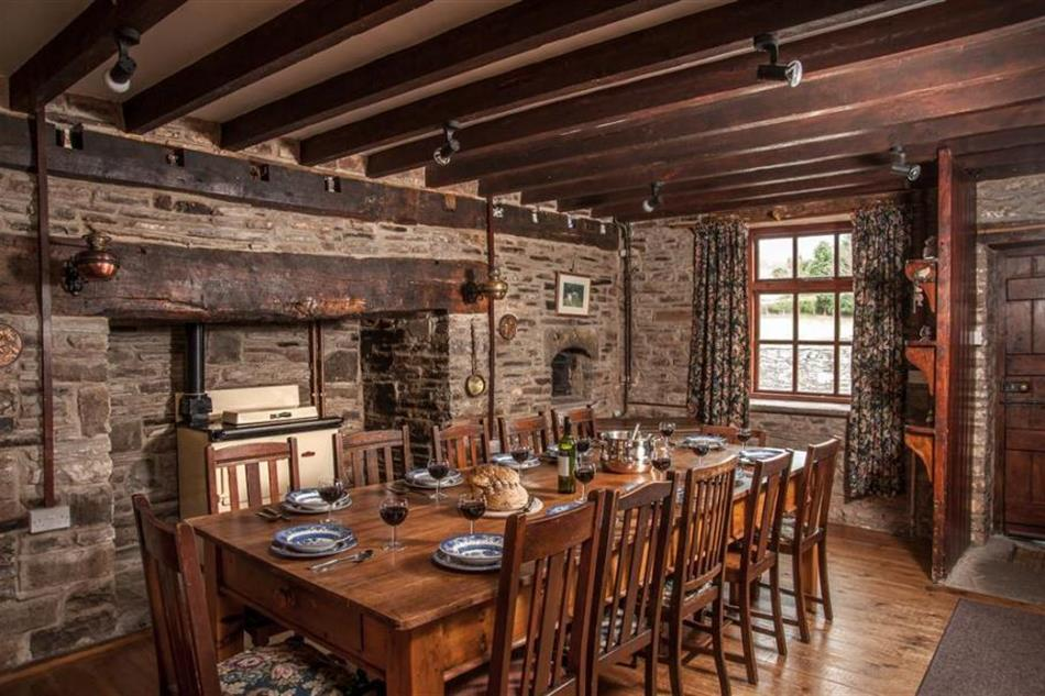 Dining room at Alexanderstone Manor, Brecon