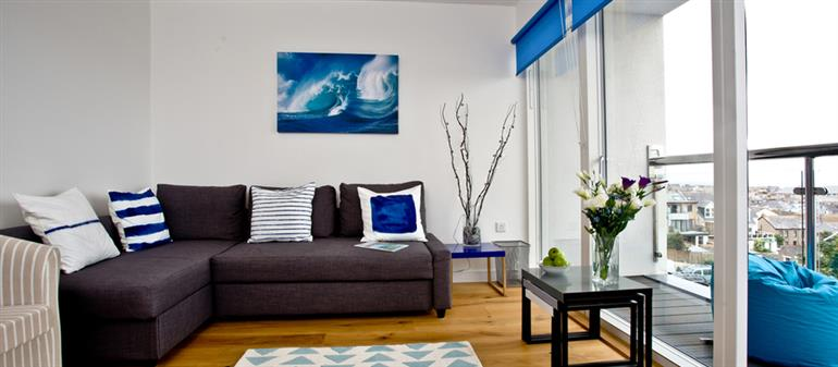 Living room in Above Towan @ 8 Quay Court, Newquay