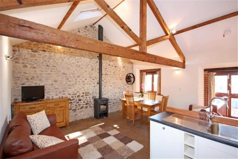 Living room in Apple Loft, Colyton