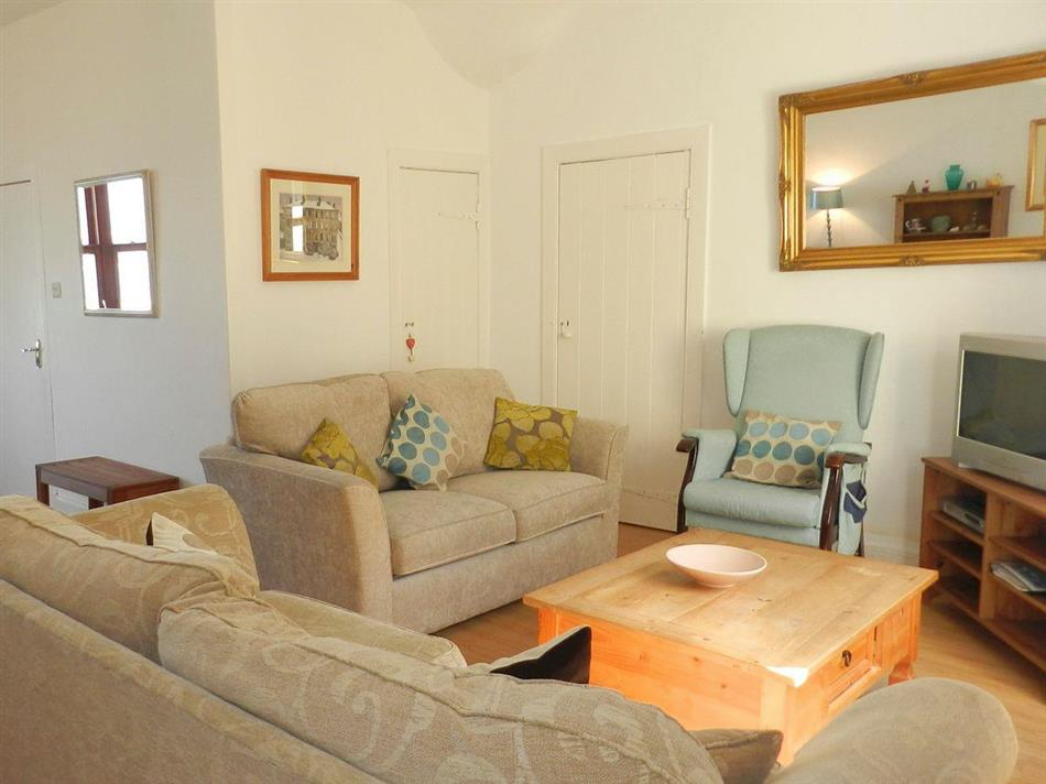 Living room in Bay View, Brodick, Isle of Arran