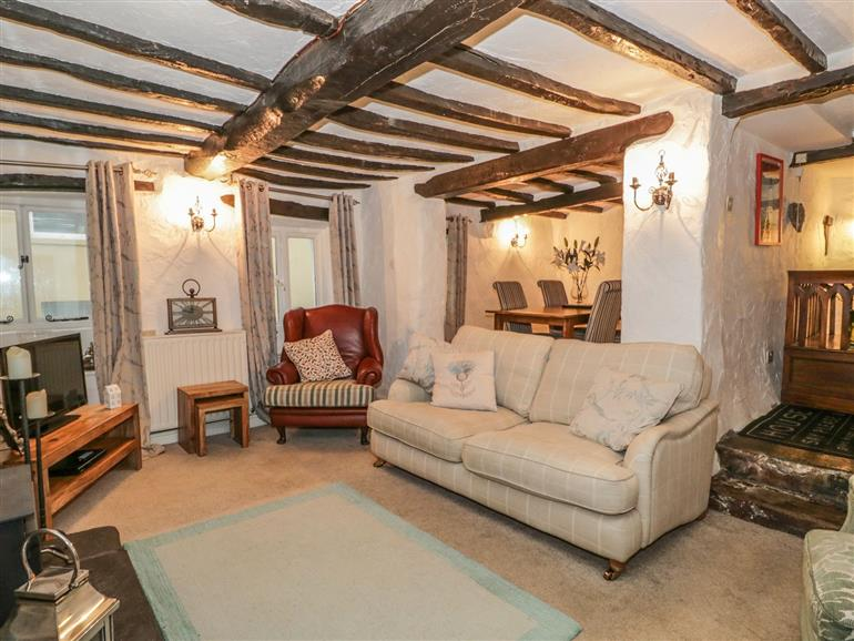 Living room in Beckfold Cottage, Broughton Beck near Ulverston