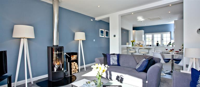 Living room in Blue Bay, Marazion