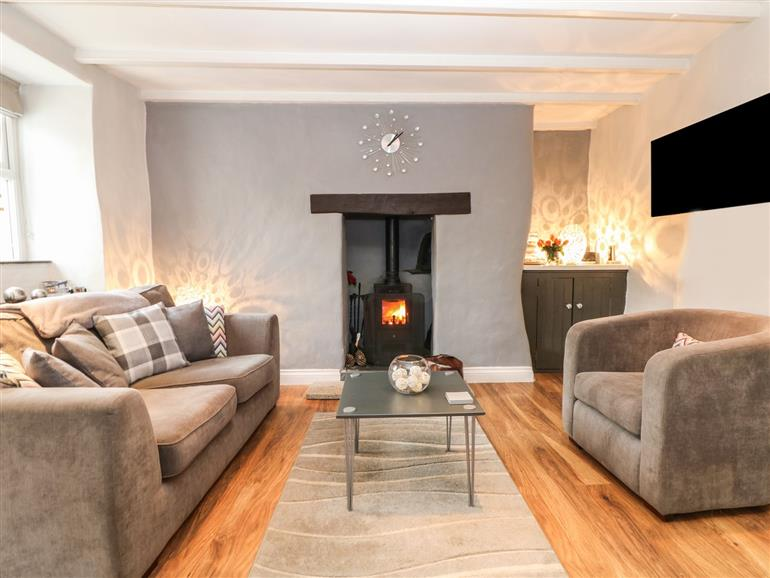 Living room in Cob Cottage, St Columb Major near Newquay