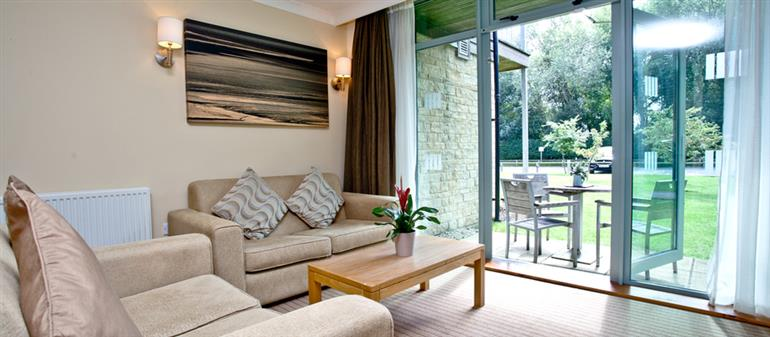 Living room in Cotswold Water Park Apartment 6, Cirencester
