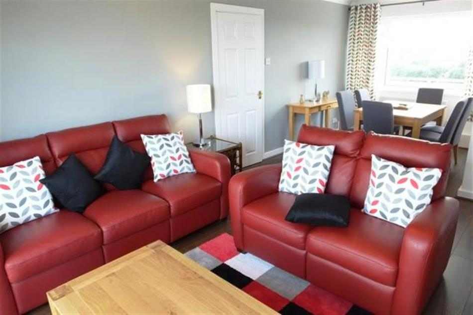 Living room in Croft Court 74, Tenby