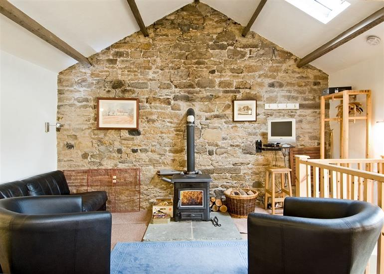 Living room in Cromer House Barn, County Durham