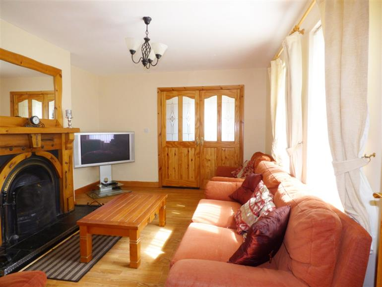 Living room in Errigal View, Dungloe