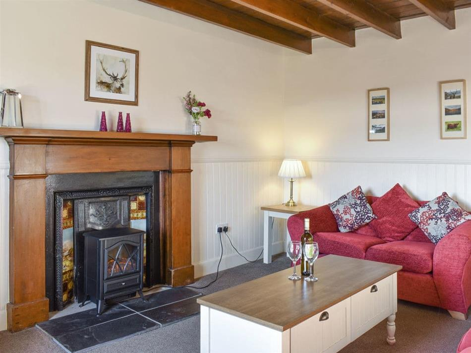 Living room in Mont Stewart Cottage, Whiting Bay, Isle of Arran