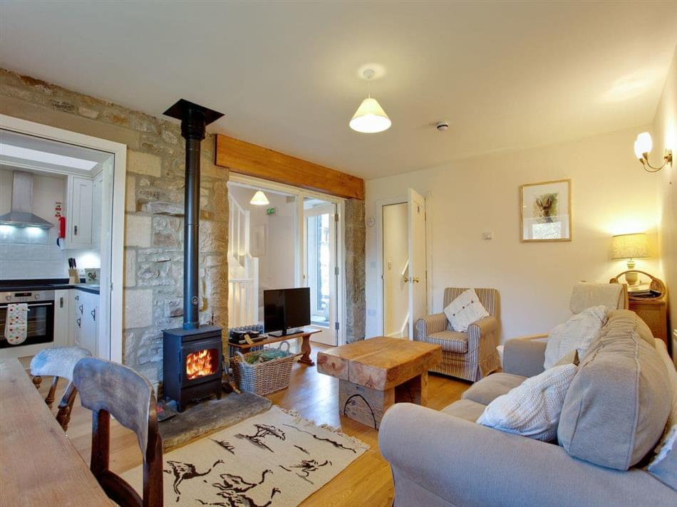 Living room in Nethergill Farm - Byre, Oughtershaw, near Hawes