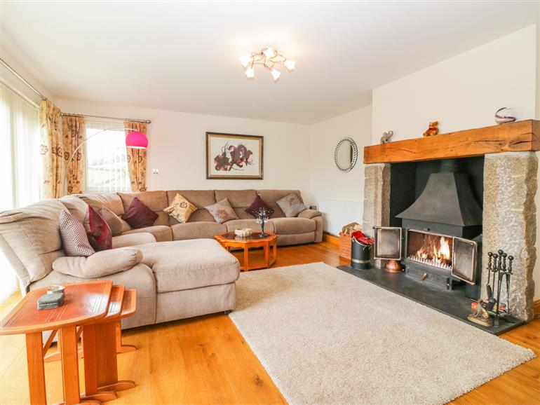 Living room in Nirod, Bovey Tracey
