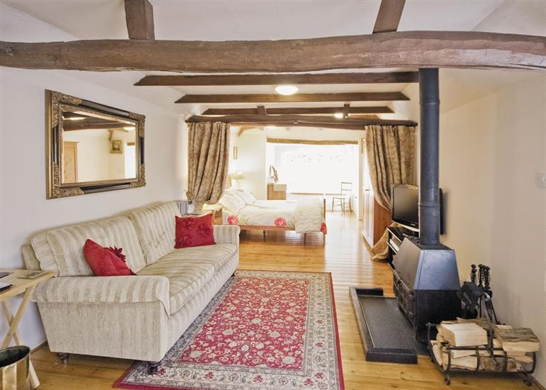 Living room in Orchard Cottage, Suffolk