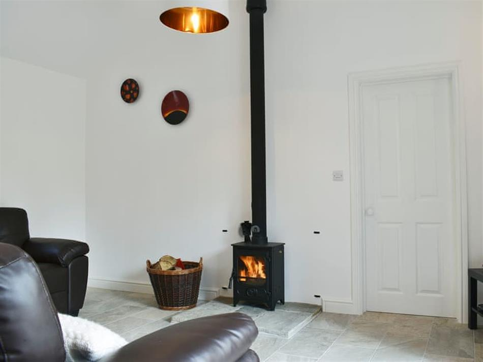 Living room in Park Hill Barn, Woolaston, near Chepstow