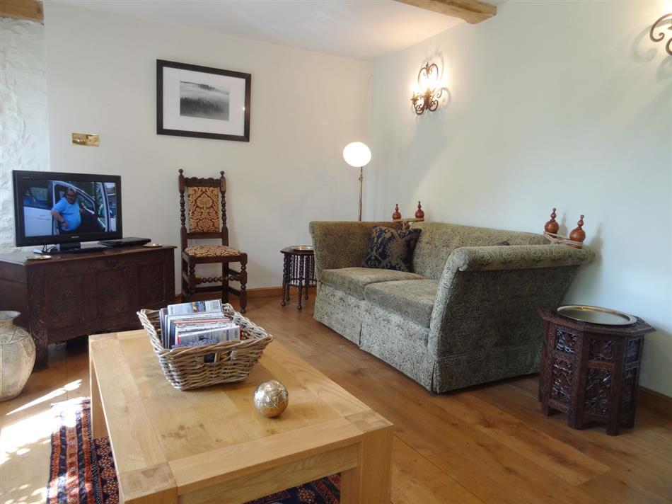Living room in Pittards Farm Cottage, South Petherton