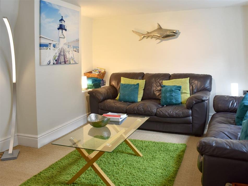 Living room in Porthole Cottage, Mevagissey