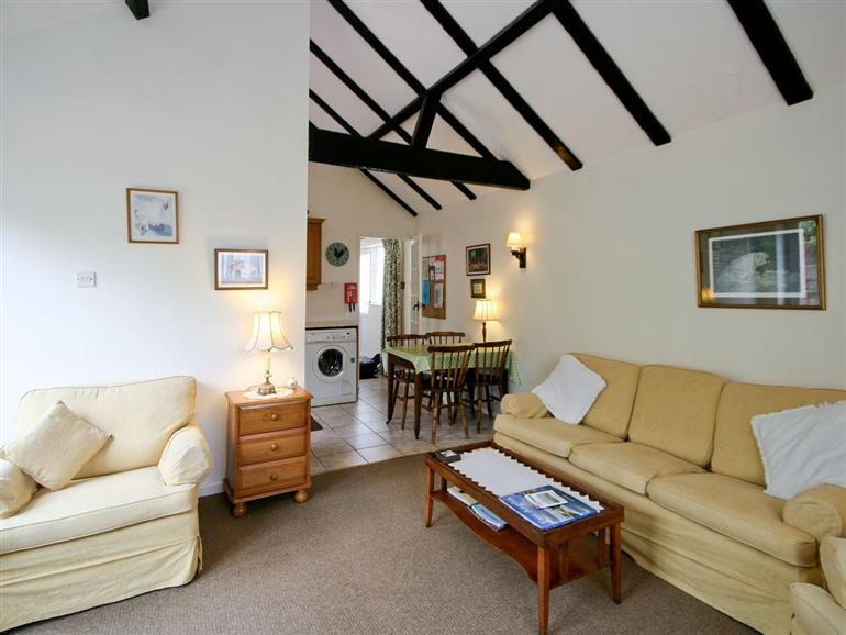 Living room in The Coach House, Suffolk