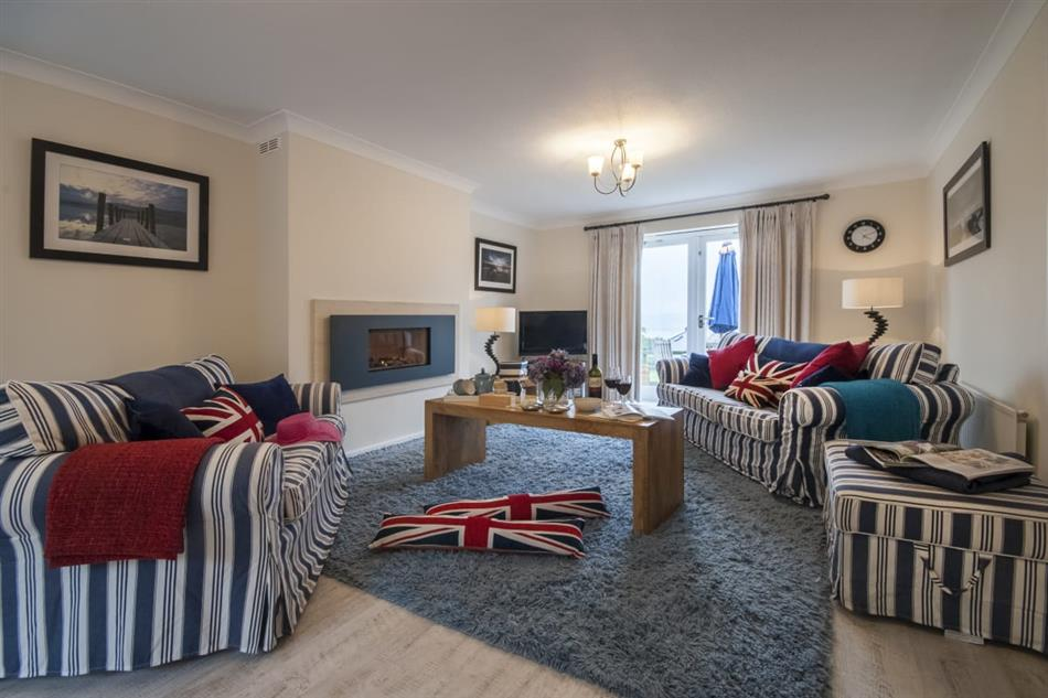 Living room in The Tides, Carmarthenshire