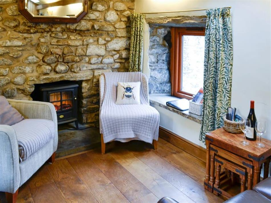 Living room in Turf Cottage, Kettlewell