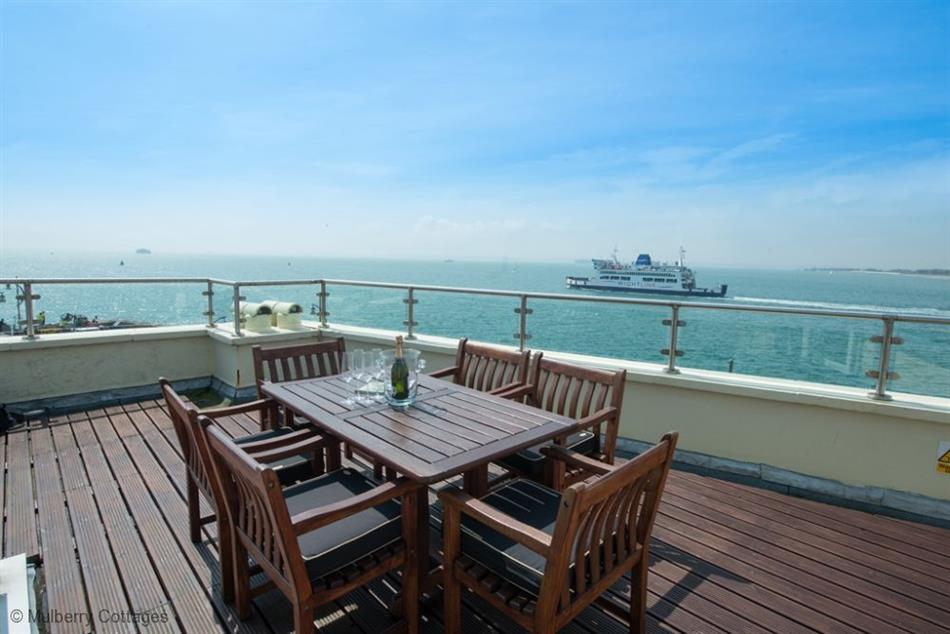 Outdoor dining at Solent View House, Old Portsmouth