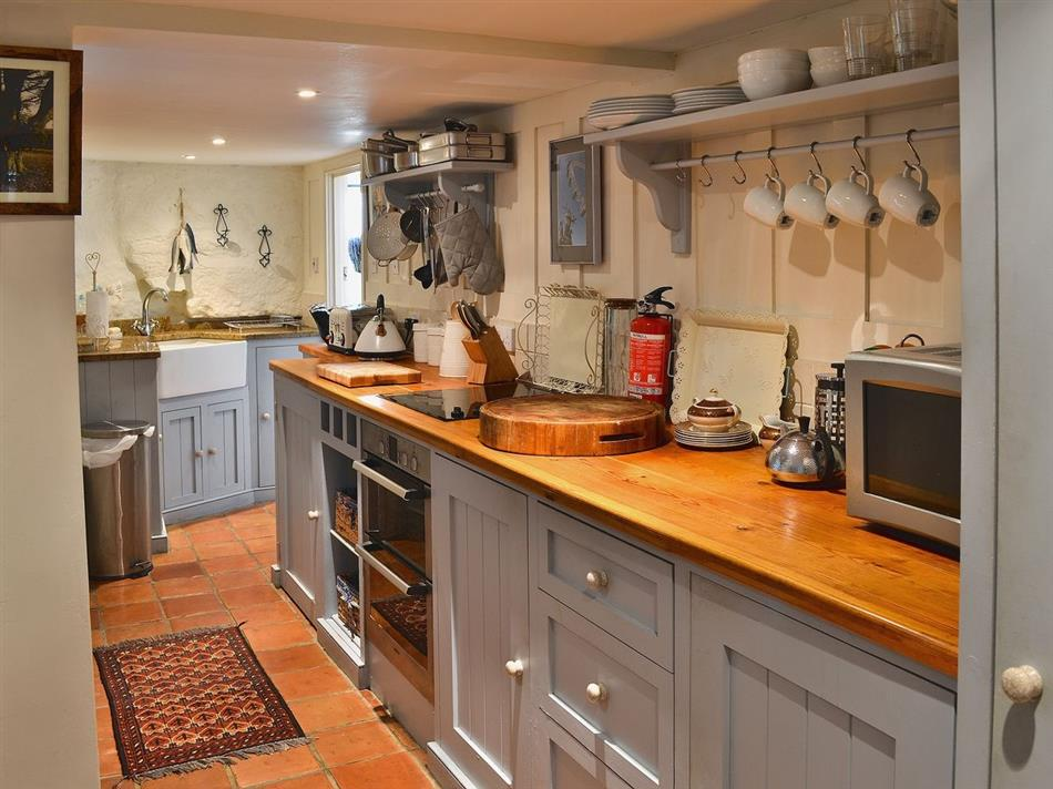 The kitchen at Green Man Cottage, Mousehole near Penzance