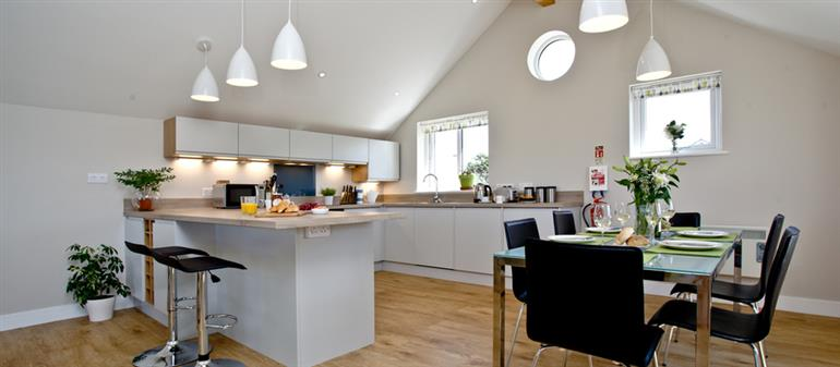 The kitchen in 5 The Towans, St Merryn