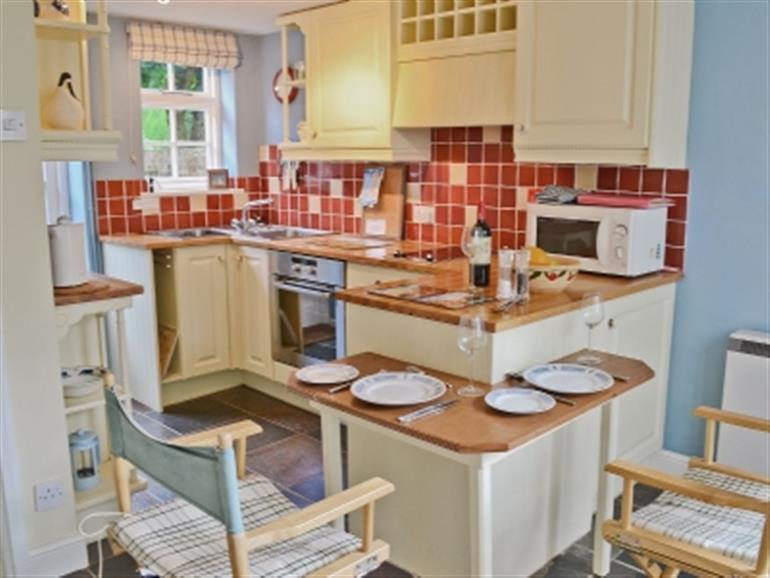 The kitchen in Coach House Cottages, Yoxford near Saxmundham