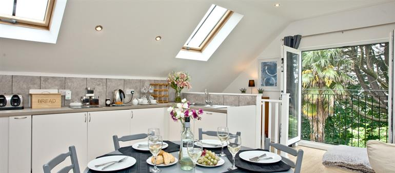 The kitchen in Monterey Mews, Torquay