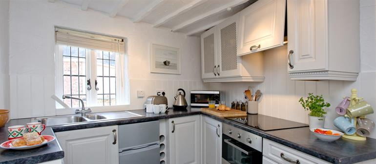 The kitchen in One Greenway, Kingsand