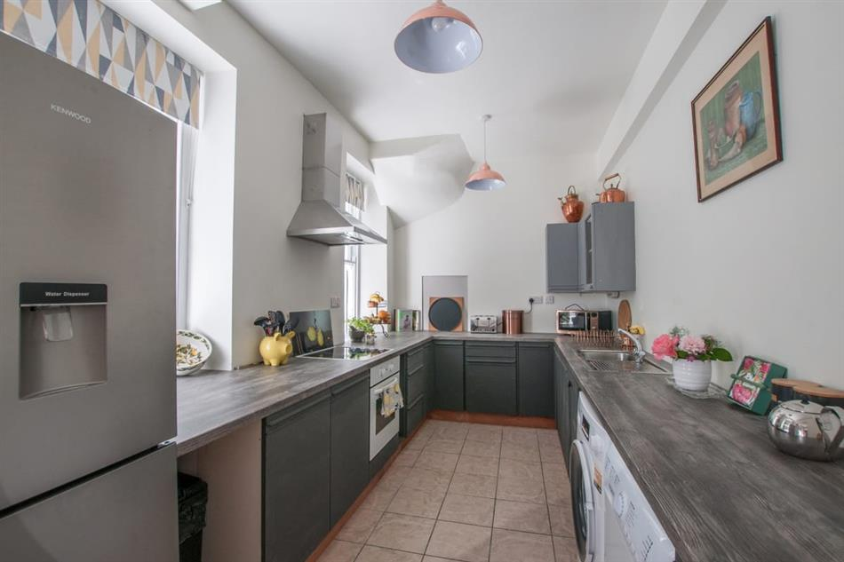 The kitchen in Plas Hendre, Porthmadog