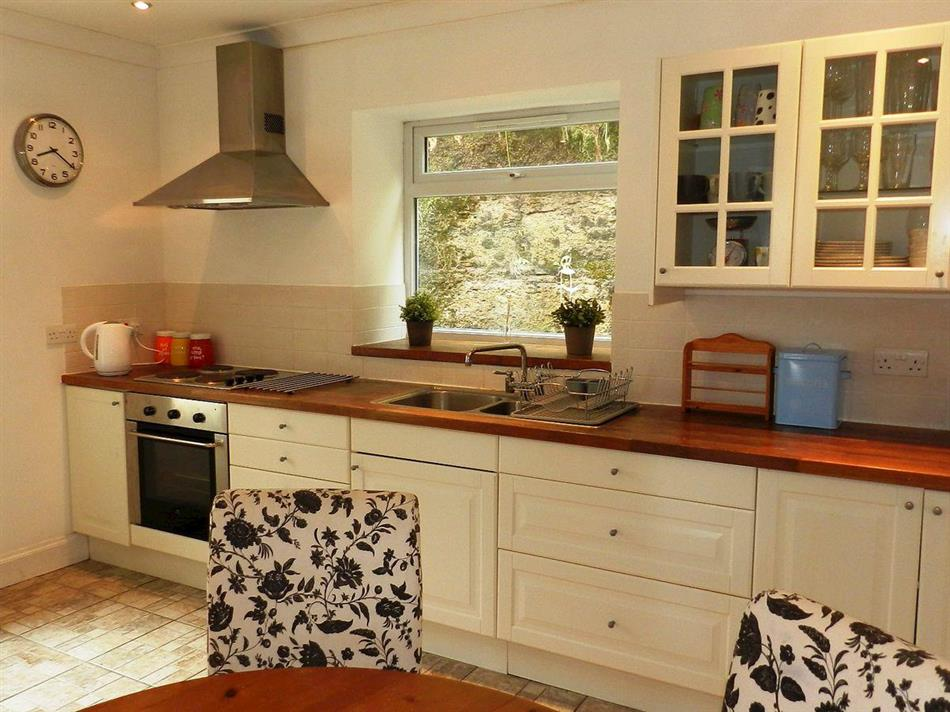 The kitchen in The Pier House, Lamlash, Isle of Arran