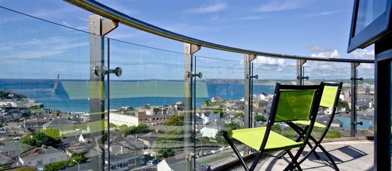 Views from Horizons View Penthouse, Newquay