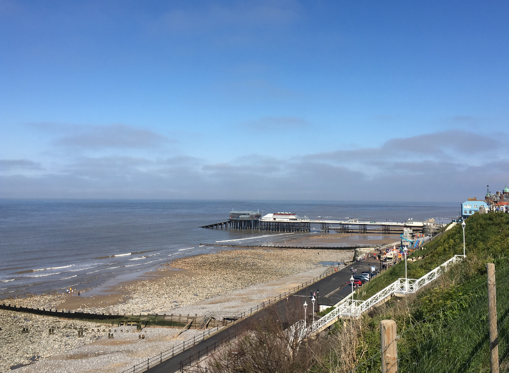 The beach and pier at Cromer, close to Clarence Mews Cottage