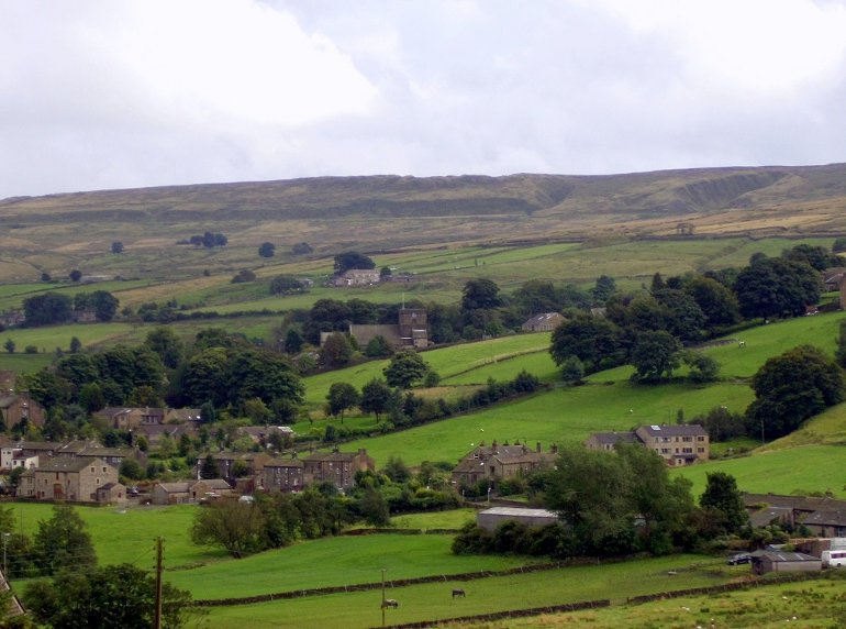 Area around Stone Cottage in Oxenhope