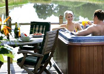 Lay in a Hot Tub at Oakwood Lodges