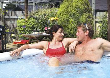 Enjoy your time in a Hot Tub at Riverside Lodges