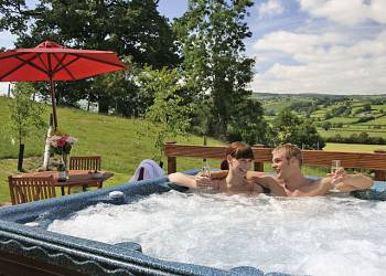 Enjoy your time in a Hot Tub at Trewythen Lodges