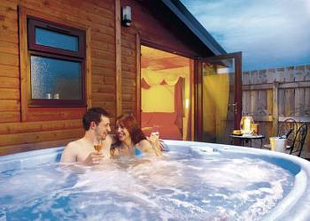 Lay in a Hot Tub at Yellowtop Country Park