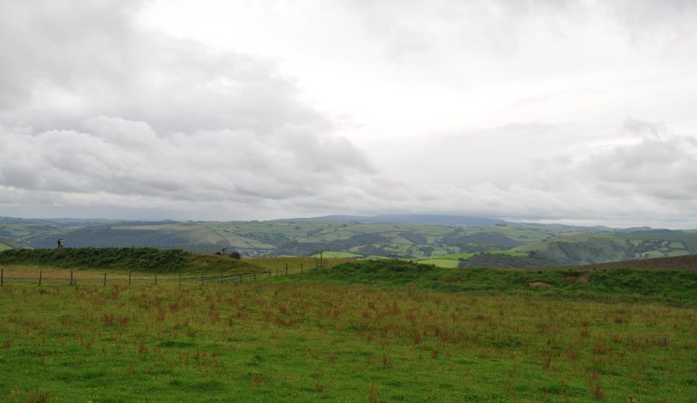The views from Offas Dyke, near Mill Race Lodges