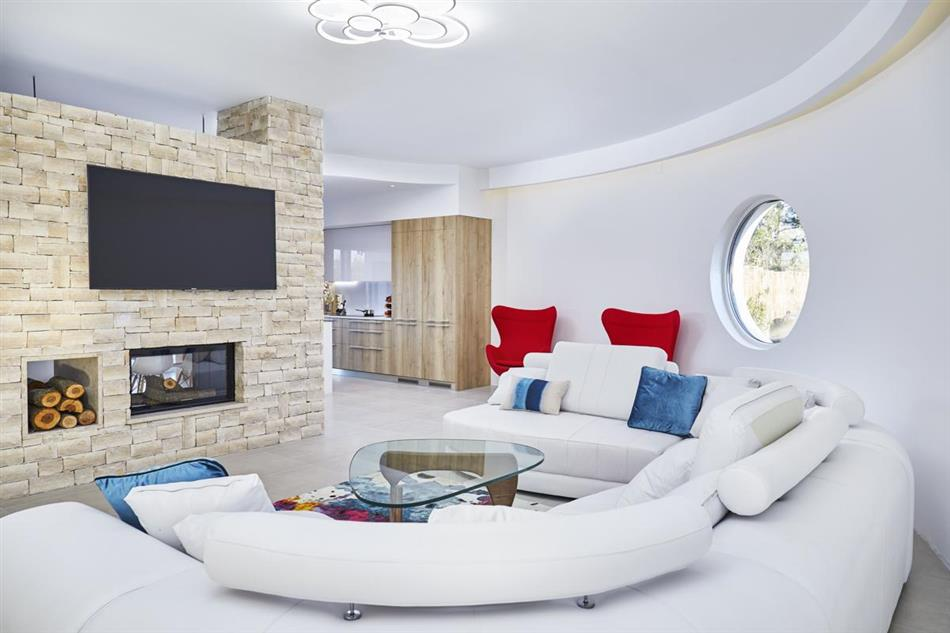 Living room in Casa Jarilo, Croatia