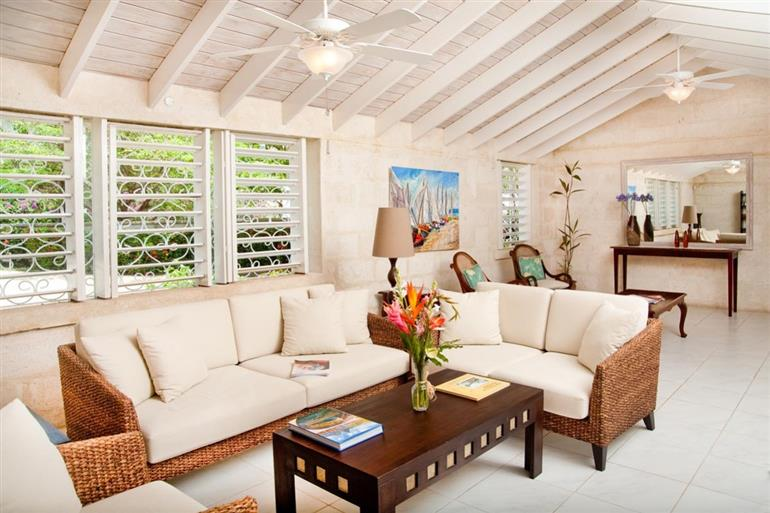 Living room in Villa Mahi, Gibbes Beach, Barbados