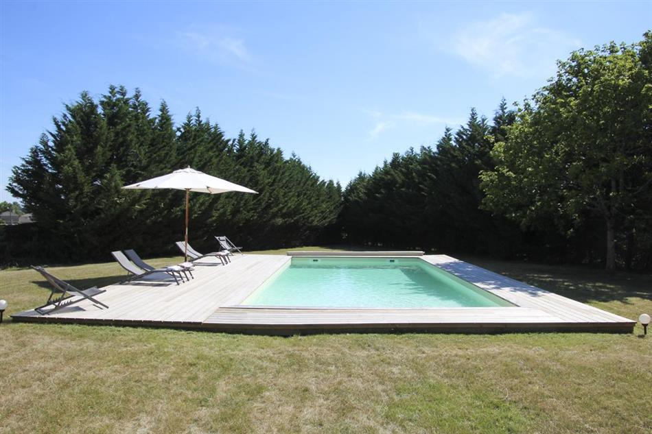 Swimming pool at Petit Chateau Medoc, France
