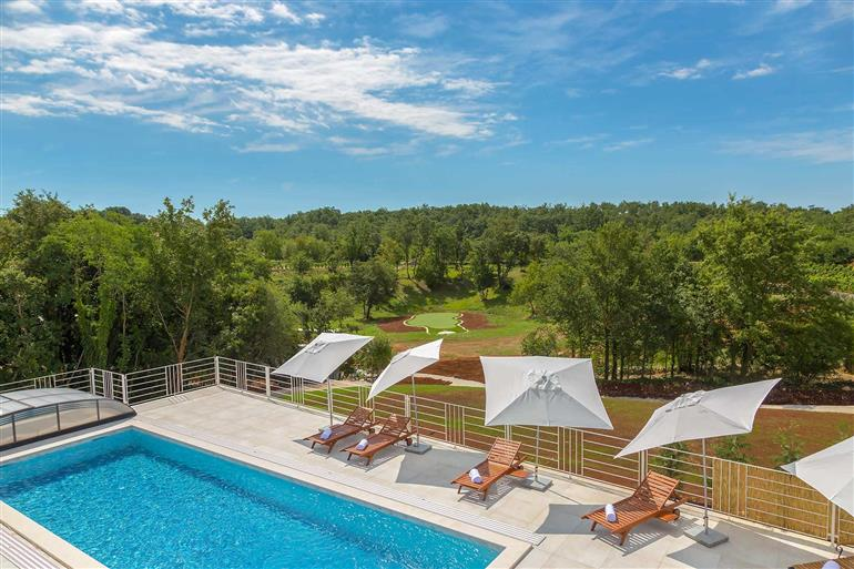 Swimming pool at Villa Belle, Svetvincenat, Istria
