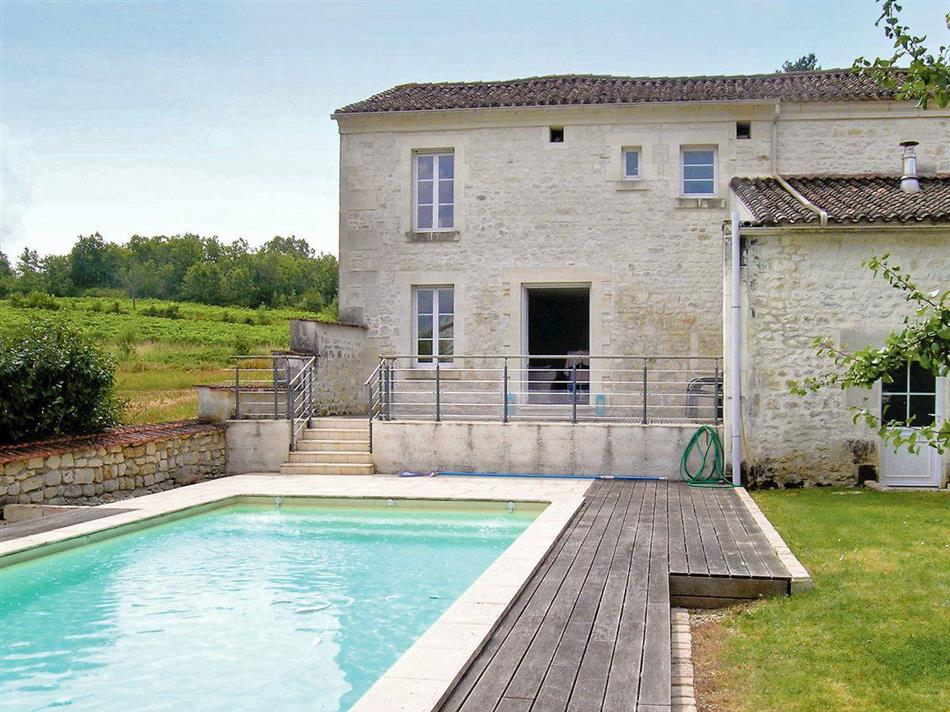 Swimming pool at Villa Champmillon, Champmillon, Charente