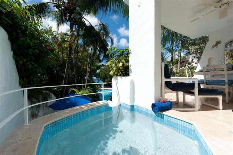 Swimming pool at Villa Monique, Merlin Bay, Barbados