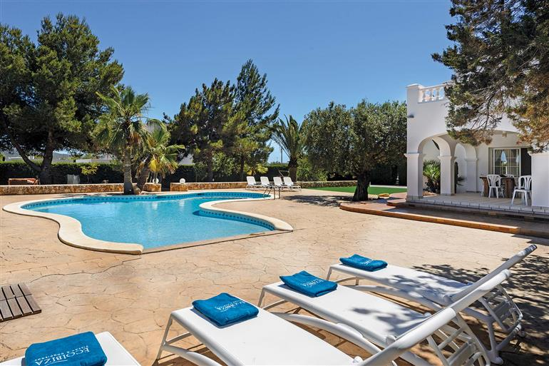 Swimming pool at Villa Oasis, San Jordi