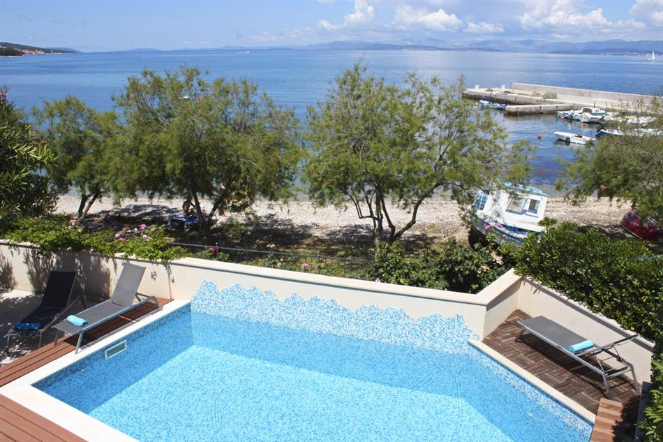 Swimming pool at Villa Seka, Croatia